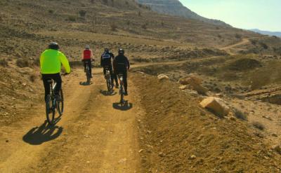 Off road riding in Jordan.