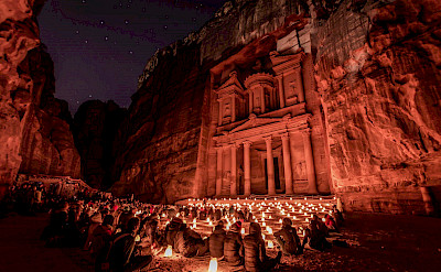 'The Treasury' in Petra, Jordan is one of the 7 Wonders of the World. Creative Commons:Mustafa Waad Saeed