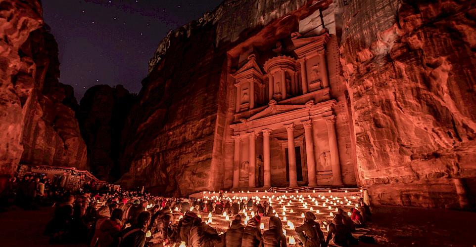 <i>The Treasury</i> in Petra, Jordan is one of the 7 Wonders of the World. CC:Mustafa Waad Saeed