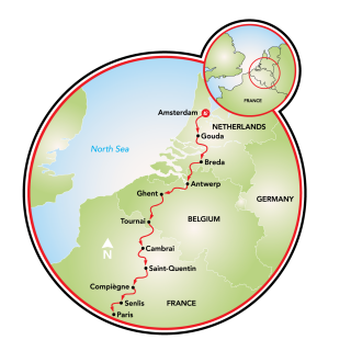 Amsterdam to Paris Map