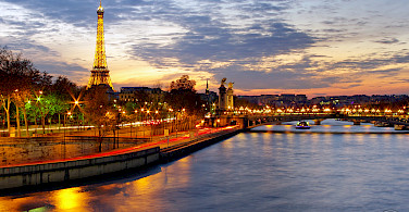 Seine River and Eiffel Tower in Paris, France. Photo via Flickr:James White Smith
