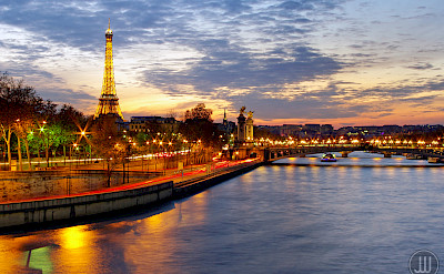 Seine River and Eiffel Tower in Paris, France. Flickr:James White Smith