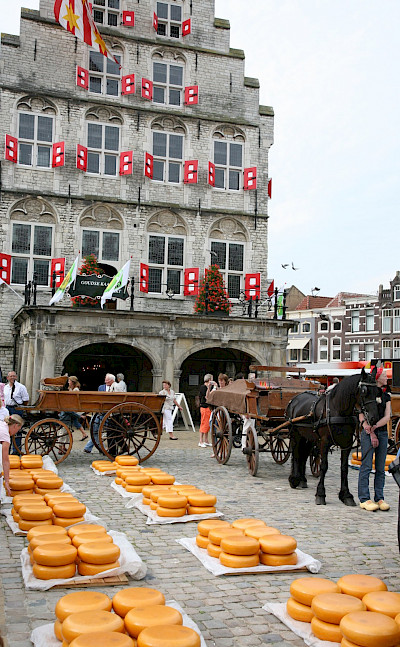 Cheese (<i>kaas</i>) Market in Gouda, South Holland, the Netherlands. Flickr:bert knottenbeld