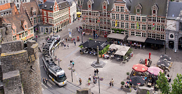 View from Gravensteen in Ghent, Belgium. Photo via Flickr:Ed Webster