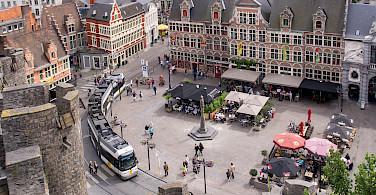 View from Gravensteen in Ghent, Belgium. Photo via Flickr:Ed Webster