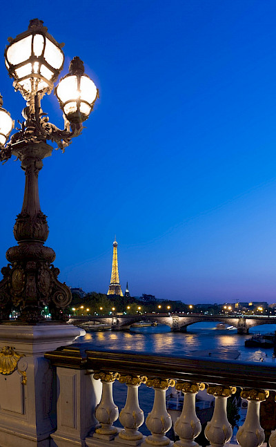 View of Eiffel Tower over the Seine River in Paris, France. Flickr:Joe deSousa