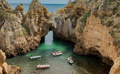 Algarve's great coastline bustles with activity. Photo via Flickr:Falco Ermert