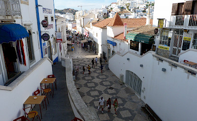 Mosaics are common in the Algarve, Portugal. Photo via Flickr:Karen Jardine