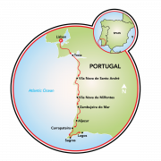 Portugal's Vicentine Coast and Algarve Map