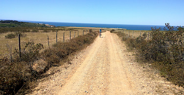 To the beach on the Vicentine Coast & Algarve Bike Tour in Portugal.
