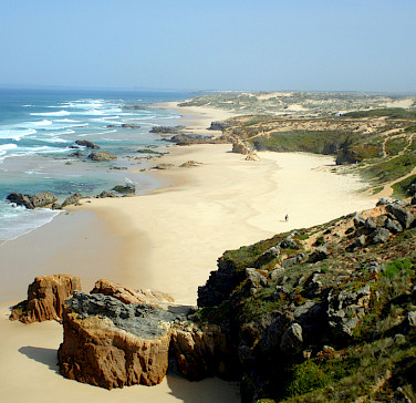 Beaches await in Vila Mova de Mil Fontes, Portugal. Photo via Flickr:Daniele Dalledonne