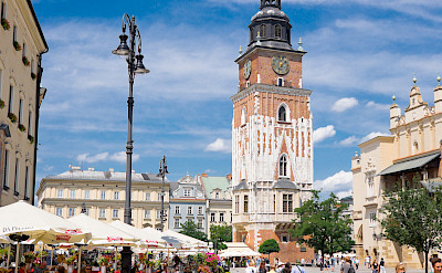 Brick Gothic architecture in Old Town Square, Krakow, Poland. Photo via Flickr:Davis Staedtler