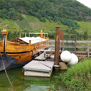 Traditional wine barge