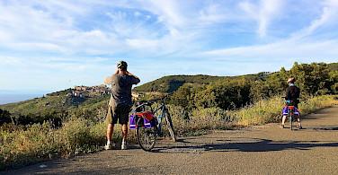 Bike rest on Giglio Island on the Tuscan Coast, Italy. Photo via TO