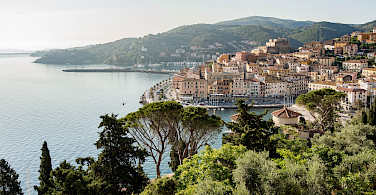 Harbor in Porto Santo Stefano on the Tuscan Coast, Italy. Photo via Flickr:Theo K