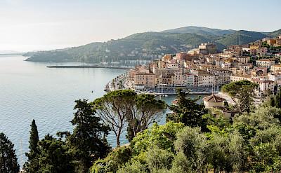 Harbor in Porto Santo Stefano on the Tuscan Coast, Italy. Photo via Flickr:Theo K