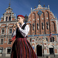 House of Blackheads in Riga, Latvia. Photo via Flickr:Bryan Ledgard