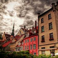 Biking through Riga, Latvia. Photo via Flickr:Graham