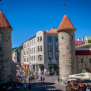 Towers welcome everyone into Tallinn, Estonia. Photo via Flickr:Mike Beales