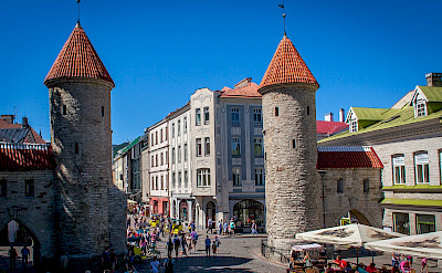 Towers welcome everyone into Tallinn, Estonia. Flickr:Mike Beales