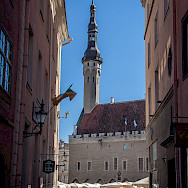 Town Hall and marketplace in Tallinn, Estonia. Photo via Flickr:Mike Beales