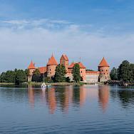 Trakai Island Castle in Trakai, Lithuania. Photo via Wikimedia Commons:Diliff