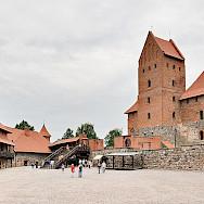 Trakai Island Castle in Lithuania. Photo via Wikiedia Commons:Dmitry A Mottl