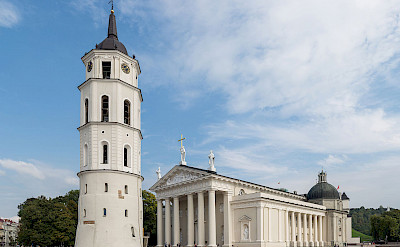 Cathedral and Bell Tower in Vilnius, Lithuania. Wikimedia Commons:Diliff