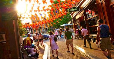 Cobblestone streets in Amsterdam, North Holland, the Netherlands. Flickr:Moyan Brenn