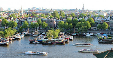 Cityscape of Amsterdam, North Holland, the Netherlands. Creative Commons:Simmerguy269