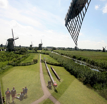 View from windmill in Kinderdijk, South Holland, the Netherlands. Photo via Flickr:Bert Knot