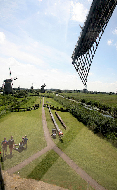 View from windmill in Kinderdijk, South Holland, the Netherlands. Flickr:Bert Knot