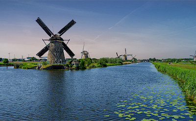 19 or so windmills make up Kinderdijk, the Netherlands. Flickr:Norbert Reimer