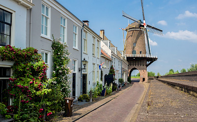 Windmill gate in Wijk bij Duurstede, Utrecht, the Netherlands. Flickr:Frans Berkelaar