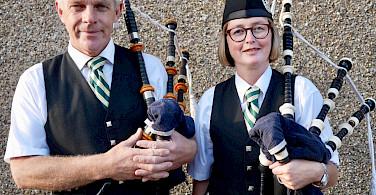 Bagpipes will be heard on this Scotland Bike Tour! Photo via TO