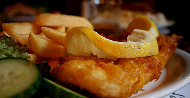 Fish and chips in Scotland. Photo via Flickr:46137