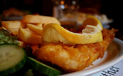 Fish and chips in Scotland. Flickr:46137
