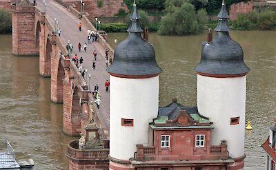 Bridge & gate in Heidelberg, Germany. ©TO