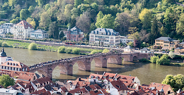 Old Bridge over the Neckar River in Heidelberg, Germany. Photo via Flickr:Gunter Hentschel