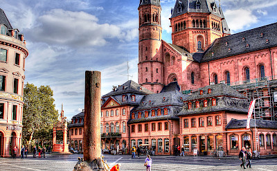 Cathedral in Mainz towers over this city in Germany. Photo via Flickr:Heribert Pohl
