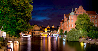 Rhine River separates Strasbourg in France from Germany. Photo via Flickr:Caroline ALEXANDRE