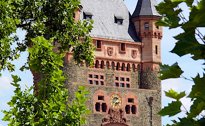 Tower of the Nibelungen Bridge over the Rhine in Worms, Germany. Photo via Flickr:Dirk Wessner