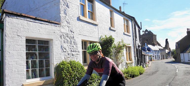 Riding through Castle Douglas in Dumfries and Galloway, Scotland. Photo via TO