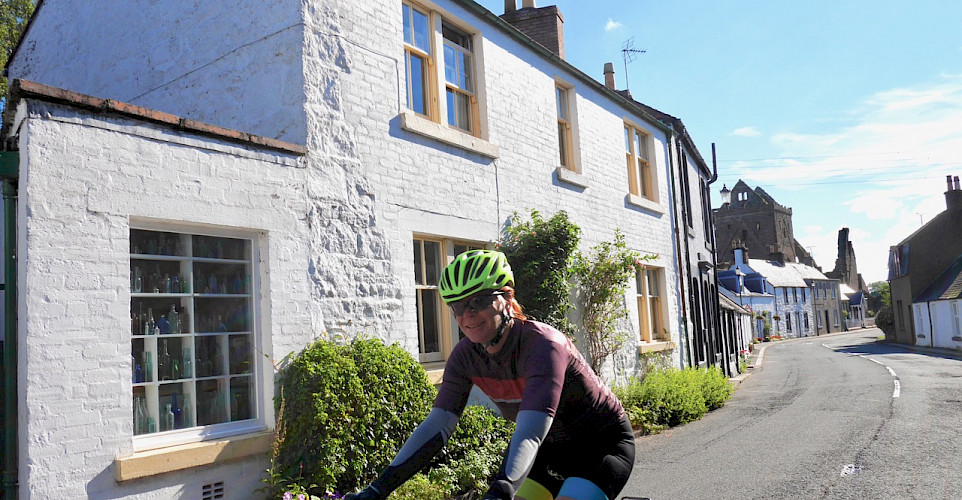Riding through Castle Douglas in Dumfries and Galloway, Scotland. Photo via TO