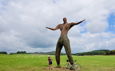 Wicker Man in Dumfries and Galloway, Scotland. Photo via TO