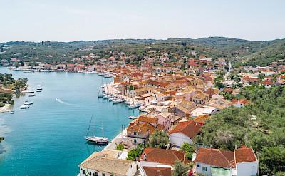 Gaios village on Paxos (Paxi) Island, Ionian Islands, Greece. CC:Anemos2000