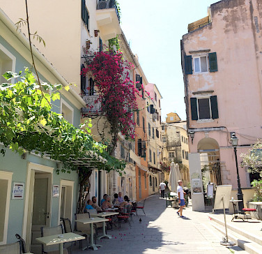 Bike rest in Corfu, the 2nd largest Ionian Island in Greece. Photo via Flickr:Andrea Tosatto