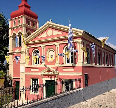 Panagia Mandrakina Church in Corfu, Greece. Photo via Flickr:Dimitris Kamaras