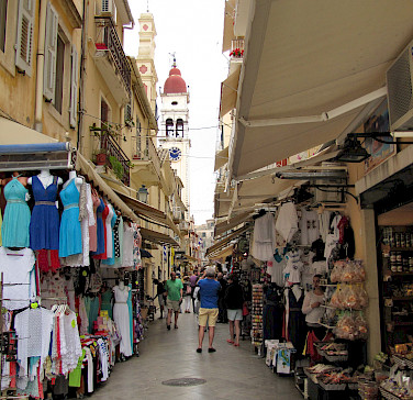 Shopping in Corfu, Ionian Island, Greece. Photo via Flickr:Luc Coekaerts