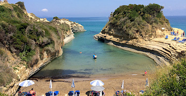 Beach in Corfu in the Ionian Sea, Greece. Photo via Flickr:Andrea Rosatto